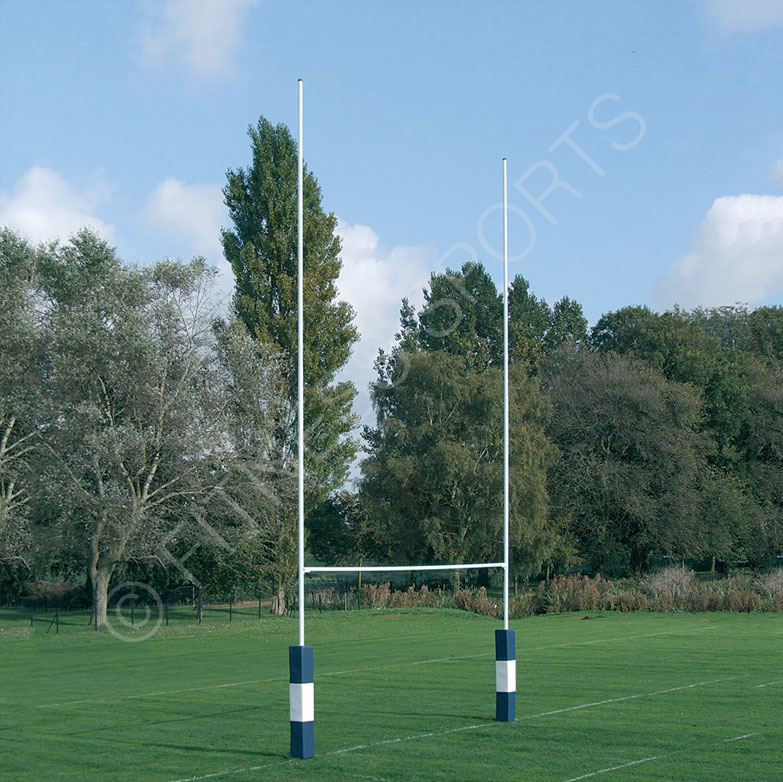 10m Hinged Steel Rugby Goalposts