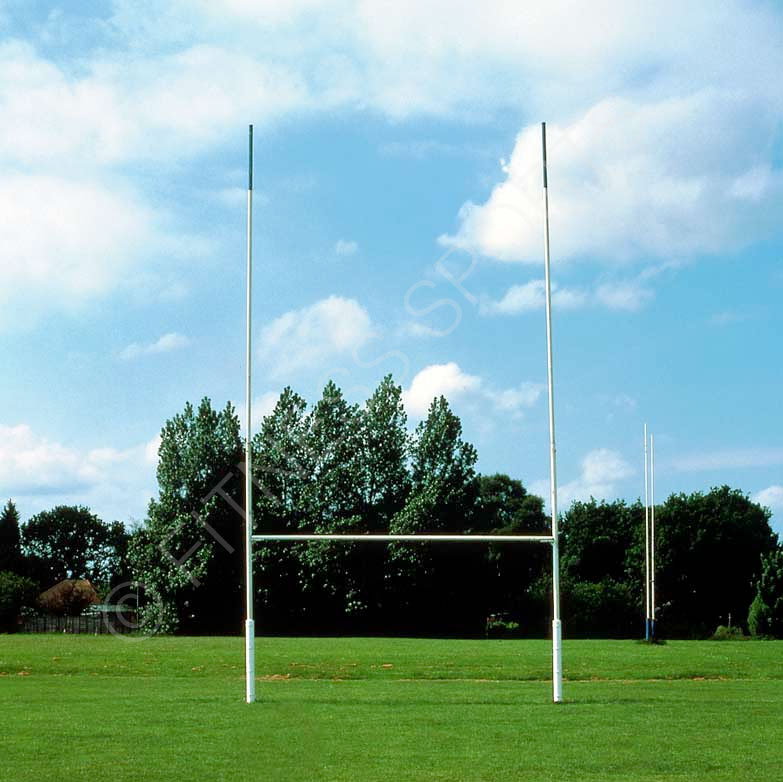 10m Steel Socketed Rugby Goalposts
