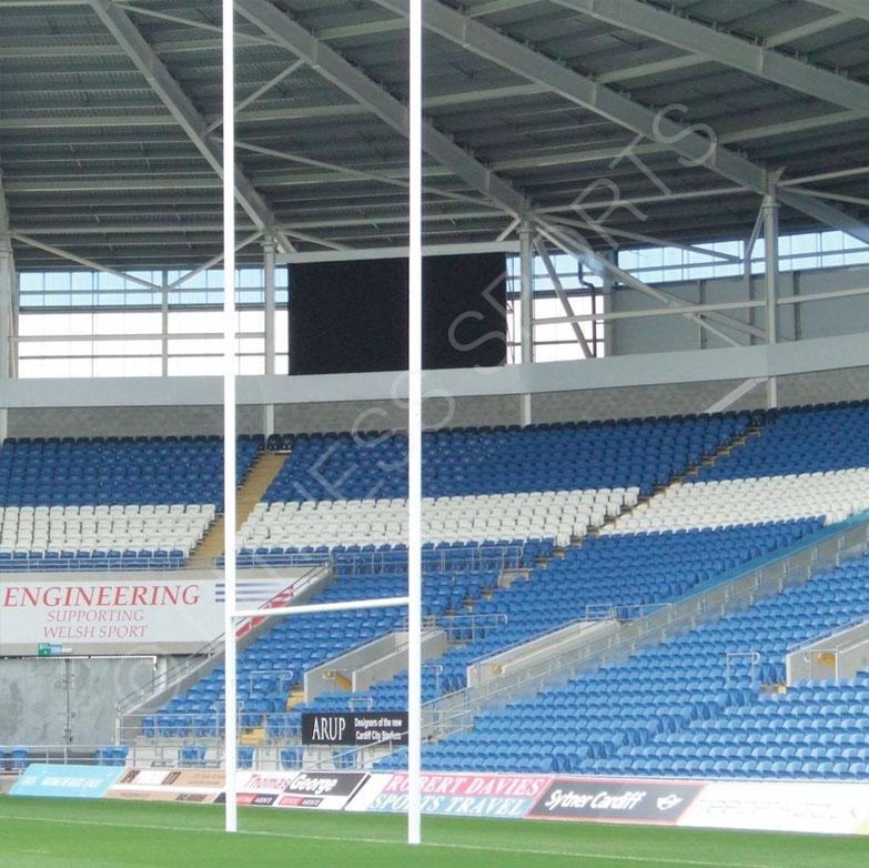 10m Aluminium Rugby Goalposts