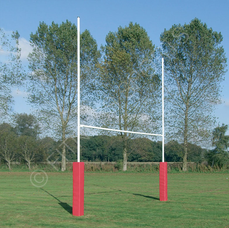 7m Hinged Steel Rugby Goalposts