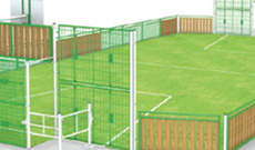 OMG 870 timber panel & steel frame outdoor multi use games area.