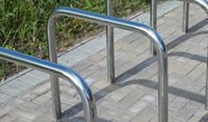 Single steel standard ground fixed bicycle stands