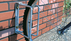 Simple wall or ground fixed bicycle secure stands.