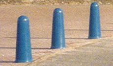 Harbour PVC plastic vehicle access bollard post.