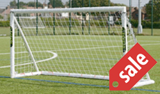 Pro Shot PVC plastic freestanding goalposts.