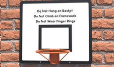 OMG All Steel Basketball Hoop