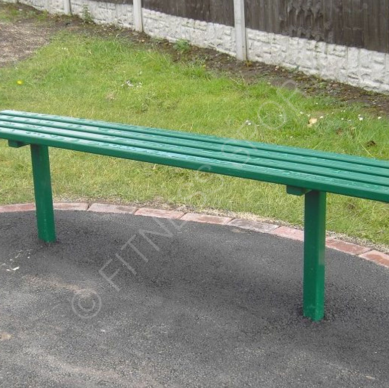Playground Steel Outdoor Public Park Bench Anti Vandal