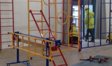 Indoor new schools construction contract for multi PE frames supply & installation.