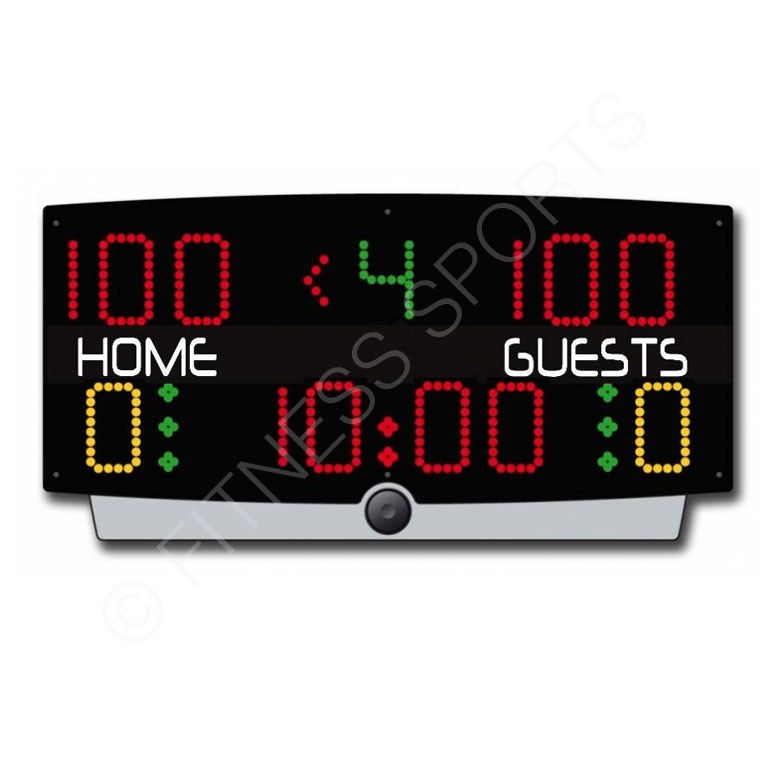 Electronic Table Top Basketball Game Scoreboard With Remote Controlled LED Display | Fitness Sports