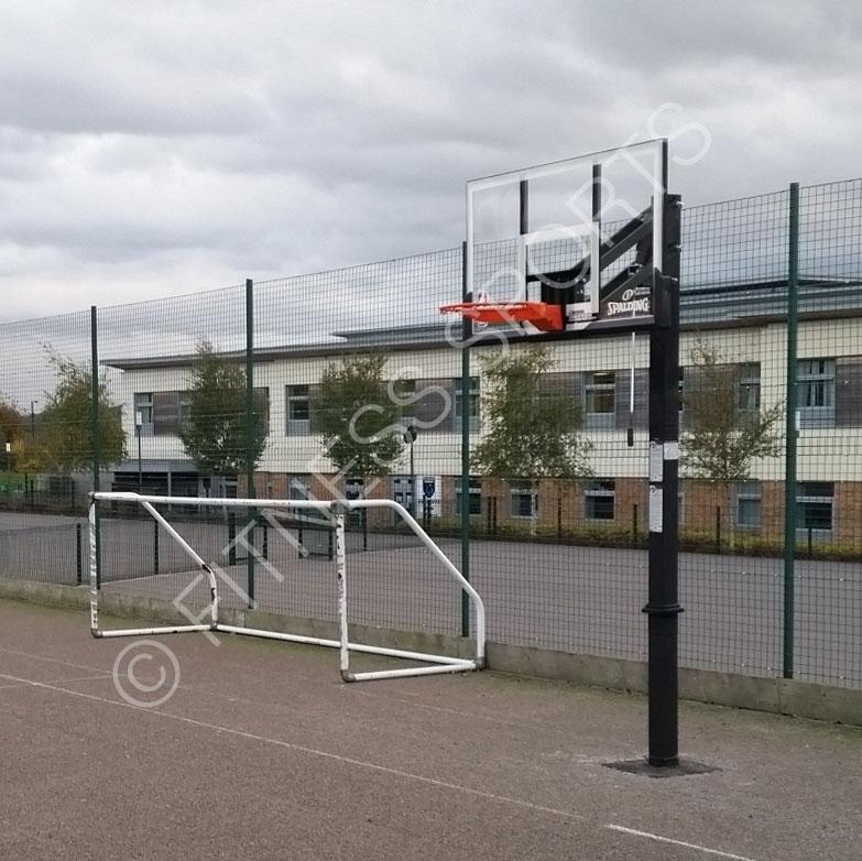 Outdoor School Basketball Court