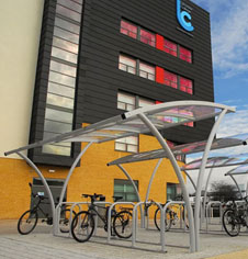 Secure cycle rack systems & Outdoor Public Perspex Bicycle Canopy Shelter | Fitness Sports Equipment
