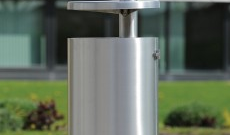 Public conti boston stainless steel litter bin.