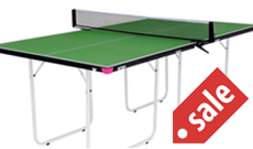 Butterfly Junior 3/4 compact indoor table tennis table.