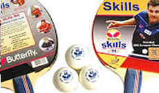 Butterfly skills twin bat and multi ball set