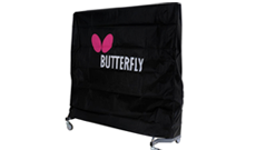 Butterfly polyester outdoor protective table cover.