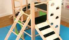Folding PE activity junior climbing frame.