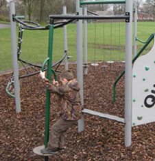 Playground climbing and activity equipment