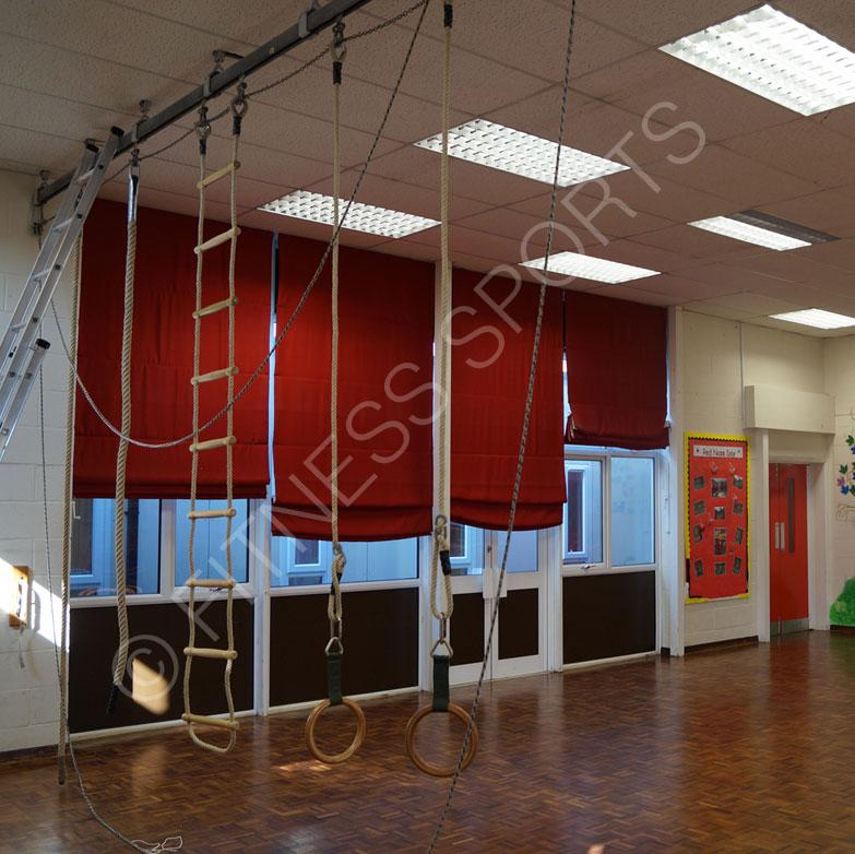 School Climbing Rope Trackway Installation Fitness