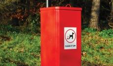 Parish sealed grade dog waste bin.