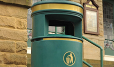 Civic PVC public use outdoor litter bin.