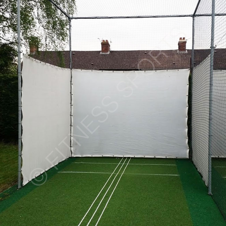 Cricket cage canvas batting lane blinkers fitness sports for Canvas privacy screen outdoor