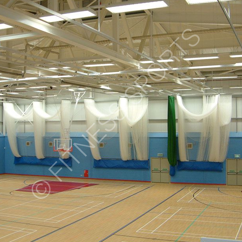 Indoor roof mounted cricket net dividing lane net system for Indoor cricket net design