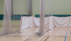 Mobile cricket nets steel batting practice net cages for Indoor cricket net design