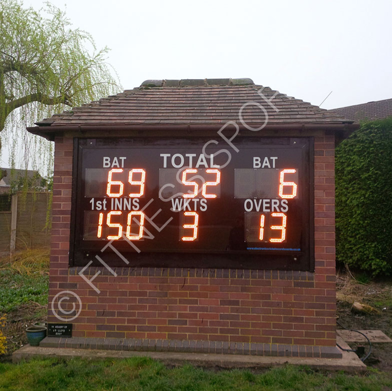 Wooden cricket scoreboards
