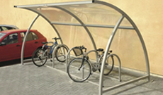 Enclosed Bike Rack Shelter