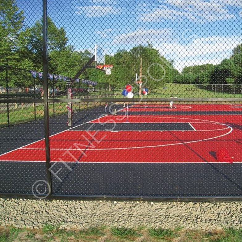 Fence Enclosed Basketball Court Design & Installation