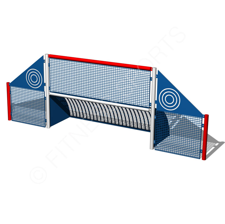 Enclosed Steel Playground Mini Goal