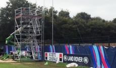 Rugby world cup training ground equipment supply and installation.