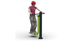 Outdoor Fitness Steel Leg Slalom