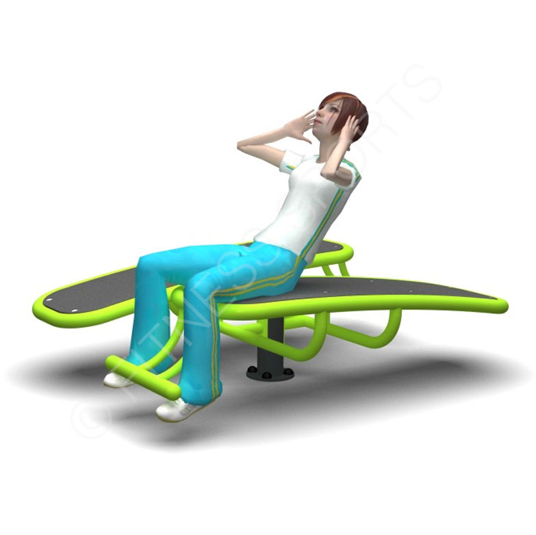 Outdoor Exercise Sit Up Bench