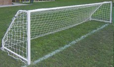 2.44m x 1.22m 50mm steel fixed 5 a side goalposts.