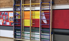 Indoor schools folding gymnasium activity PE climbing frames.