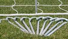 50 x steel goalpost netting ground pegs
