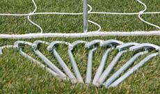 50 x steel goalpost netting ground pegs