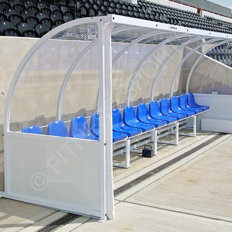 Football coach shelter