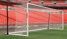 Pair of 7.32m x 2.44m freestanding folding Eurogoals.