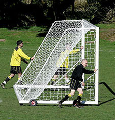 Freestanding 3G Aluminium Portable Senior Football Goalposts