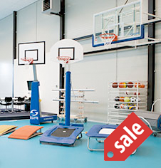 Sports equipment supply and installation services.