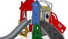 Themed childrens play equipment MUGAs.