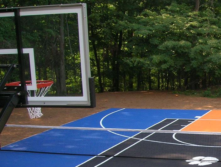 Garden Basketball Goal Area Design Amp Installation