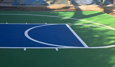 Garden basketball court areas