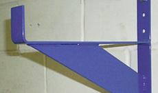 Wall mounted goal storage brackets