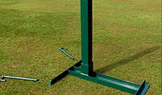 Steel grass freestanding tennis posts with winder.