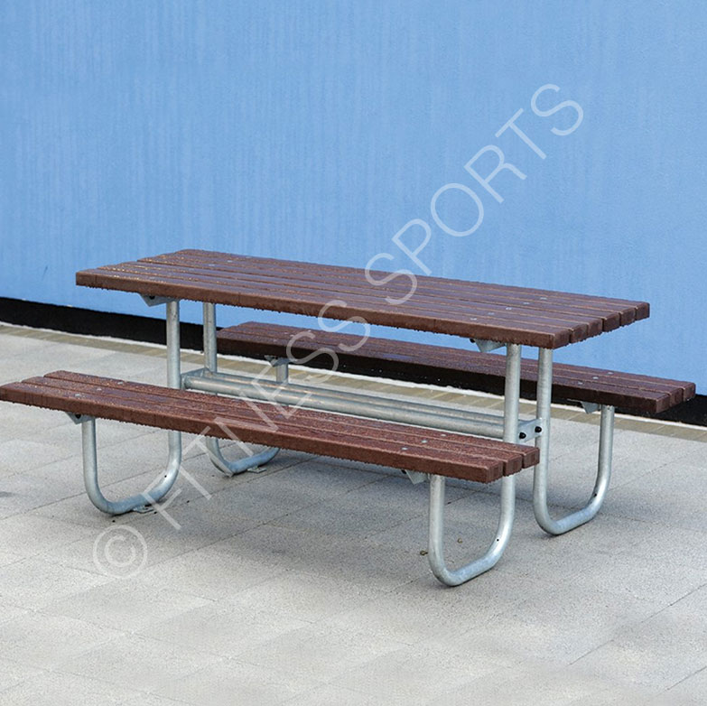 Outdoor Ground Fixed Picnic Table