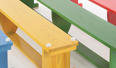 Wooden & alloy gymnasium PE benches.