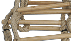 Standard 3m hemp rope gym ladder.